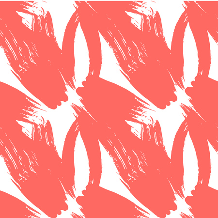 Seamless pattern with creative texture. Vector illustration of spray paint on white background. Red ink smudges. Illustration