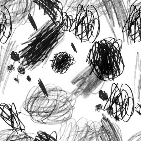 Naadloos patroon met een creatieve textuur. Illustratie van kleurpotlodenachtergrond. Potloodlijnen. Kindertekeningen. Stockfoto