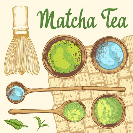 Japanese ethnic and national tea ceremony. Matcha.