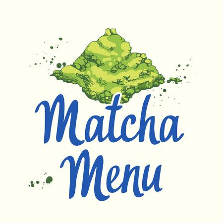 Japanese ethnic and national tea Matcha.