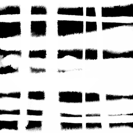 Pattern with creative texture. Vector background of paint strokes. Black and white. Overlapping lines.