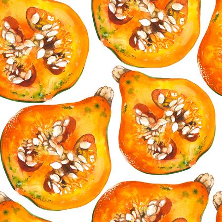 Vegetables watercolor seamless pattern. Fresh organic food. Standard-Bild - 121028467