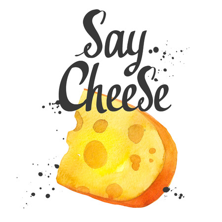 Watercolor  with noble cheeses