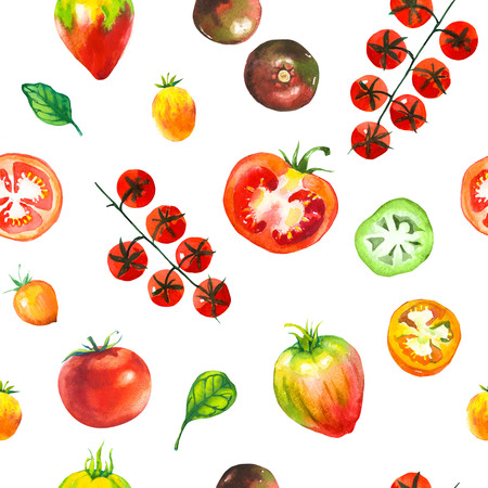 Vegetables watercolor set.