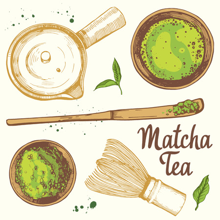 Japanese ethnic and national tea ceremony. Matcha.