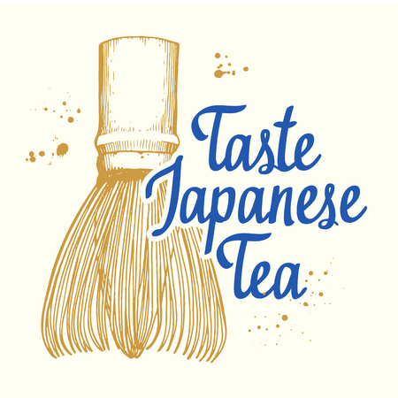 Japanese ethnic and national tea ceremony. Ilustrace