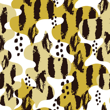 Vector seamless pattern. Background with abstract elements. Natural design.