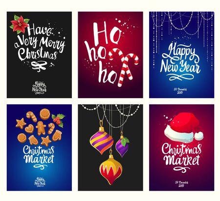 Christmas poster set