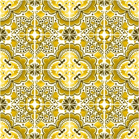 Seamless pattern with with Portuguese tiles.