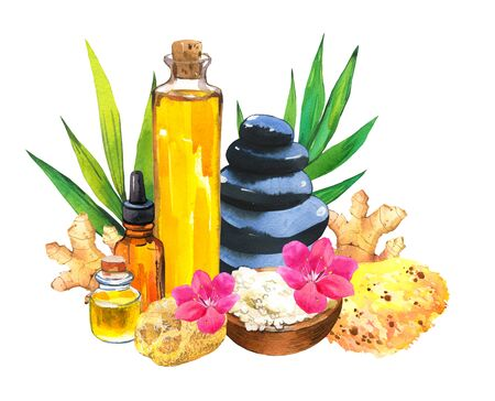 SPA watercolor  with a variety of means for body and face