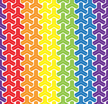 trans gender: LGBT Gay love concept - Rainbow geometric seamless pattern design texture.