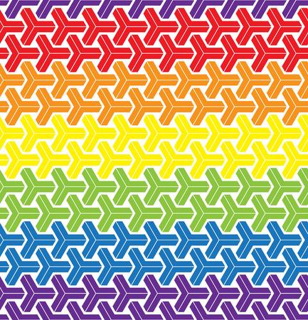 gay love: LGBT Gay love concept - Rainbow geometric seamless pattern design texture.