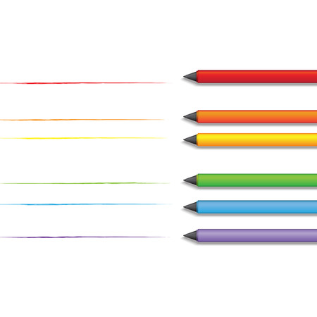 trans gender: LGBT Gay pride love concept - Rainbow lines with colorful pen on with background