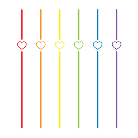 trans gender: LGBT Gay pride love concept - Rainbow lines with colorful heart on with background