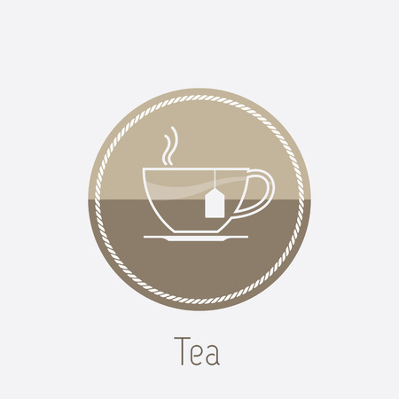 take out food container: Vector icon of tea cup