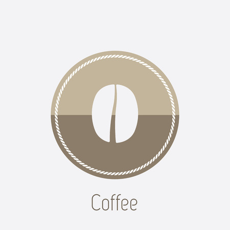 takeout: Vector icon of coffee bean Illustration
