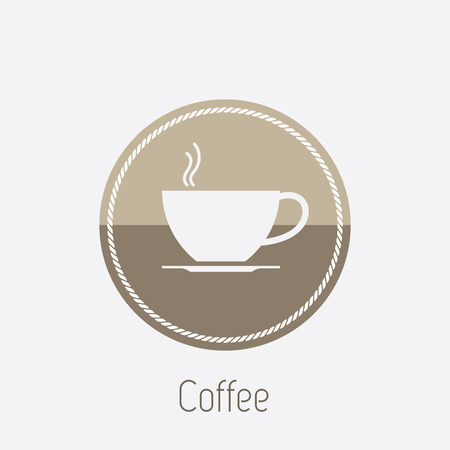 take out food container: Vector icon of coffee cup