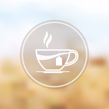 take out food: Vector icon of tea cup
