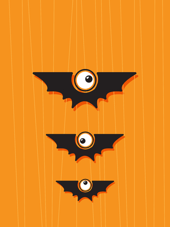 halloween concept: Halloween concept with funny bats