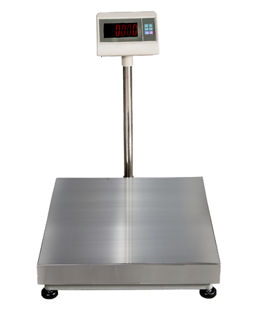 scales for weighing heavy objects and goods, isolated on white background Stock Photo - 87700070