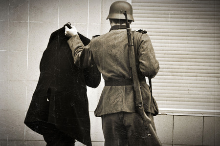 world war ii: Photo of reconstruction of event taking place in time of World War II