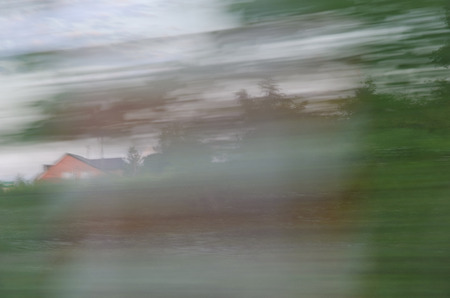doldrums: Photo shows a blurred vision while driving after drinking alcohol.
