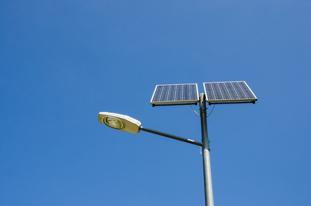 The photo shows a way of using solar energy.