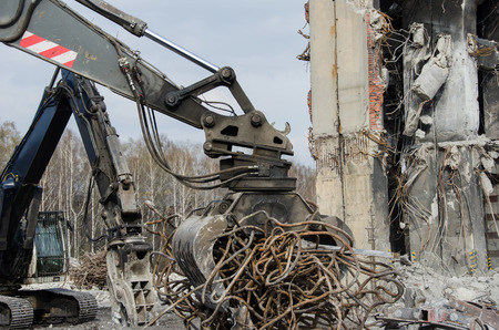 Recycling of scrap metal from demolished building