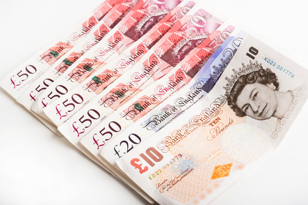 pounds: The photo British currency Pounds. Stock Photo