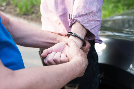 arrest: The photo shows the arrest of a man.
