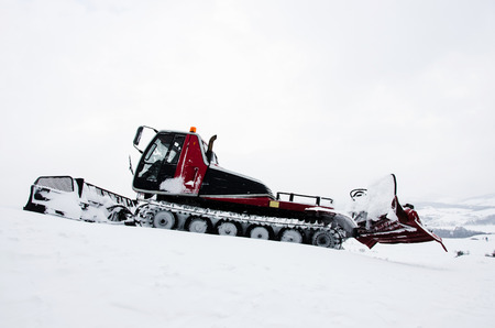 Ratrak, grooming machine, special snow vehicle Stock Photo