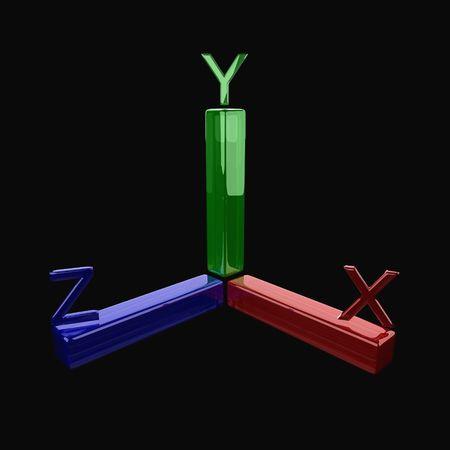 axis: eje de coordenadas, eje tridimensional
