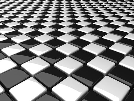 chequer: black and white boxes background
