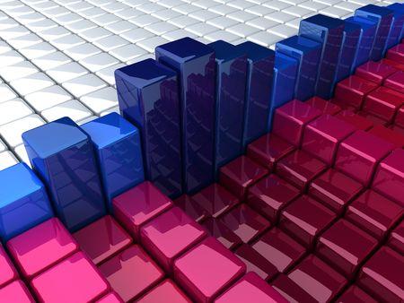 many coloured: boxes background histogram Stock Photo