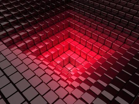 black block: cuadros de negro con fondo rojo