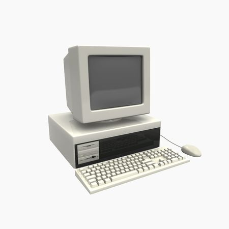 old technology: computer fourth generation Stock Photo