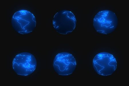 Glowing earth photo