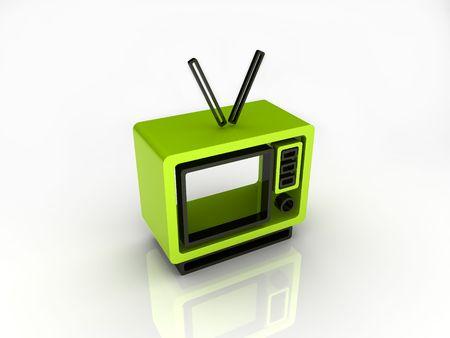 Illustration of abstract TV illustration