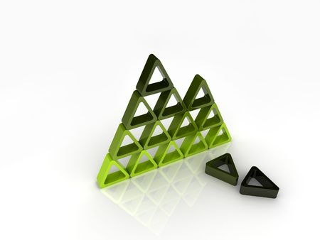 Broken green pyramid Stock Photo - 6014630