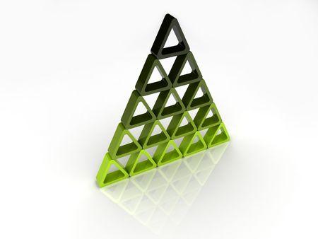 Abstract green-black pyramid Stock Photo - 6014623