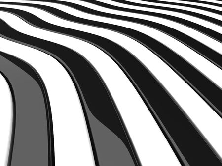 boxes black and white curves Stock Photo - 6014528
