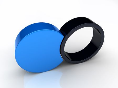 Union of two round elements 2(blue collection) Stock Photo - 6045249