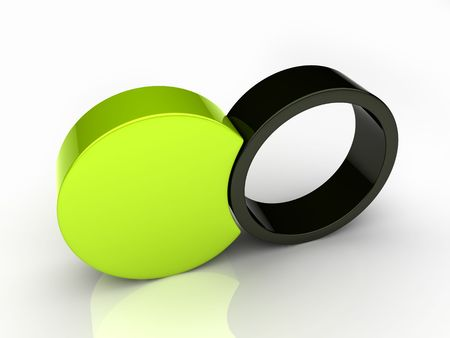 Union of two round elements (green collection) Stock Photo - 6045481