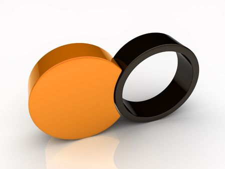 Union of two round elements (orange collection) Stock Photo - 6045480