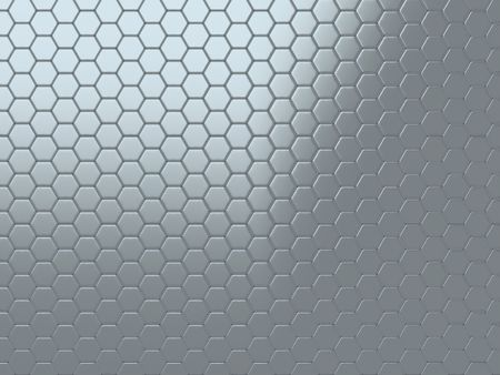 steel mesh: Abstract background with metallic shining cells (grey) Stock Photo