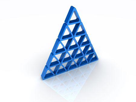 Blue abstract pyramid Stock Photo - 6045485