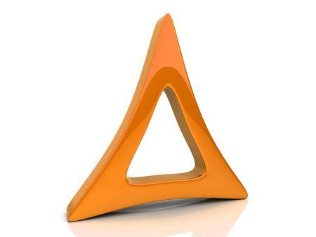 triad: Illustration of orange design element on reflected