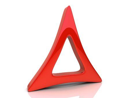 triad: Illustration with red design element (symbol of triad)