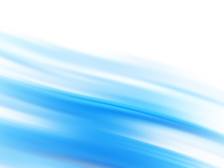 Abstract blue background with flowing waves (blue lines) photo