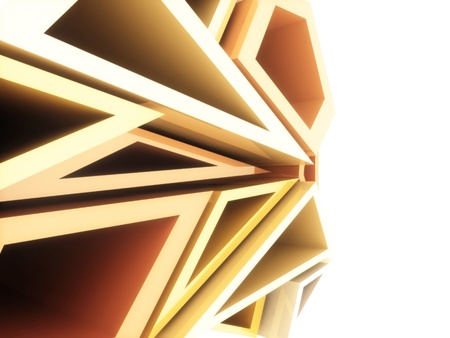 Abstract sport geometrical background with white and orange triangles photo